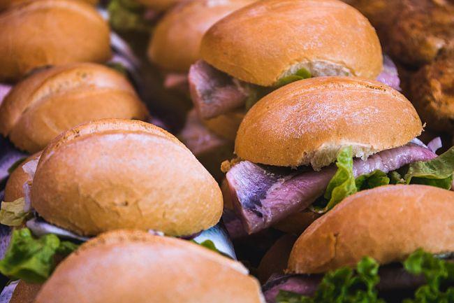 Panini per un buffet per una festa per bambini previsti all'interno del menu