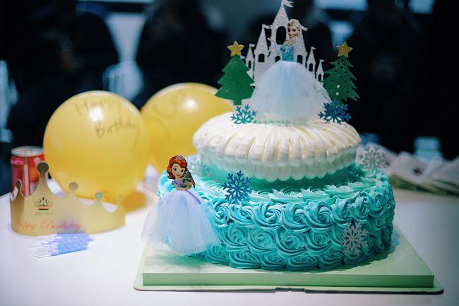 torta festa a tema frozen