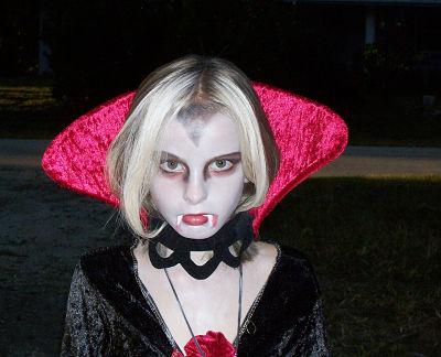Trucco di halloween per bambini vampiro