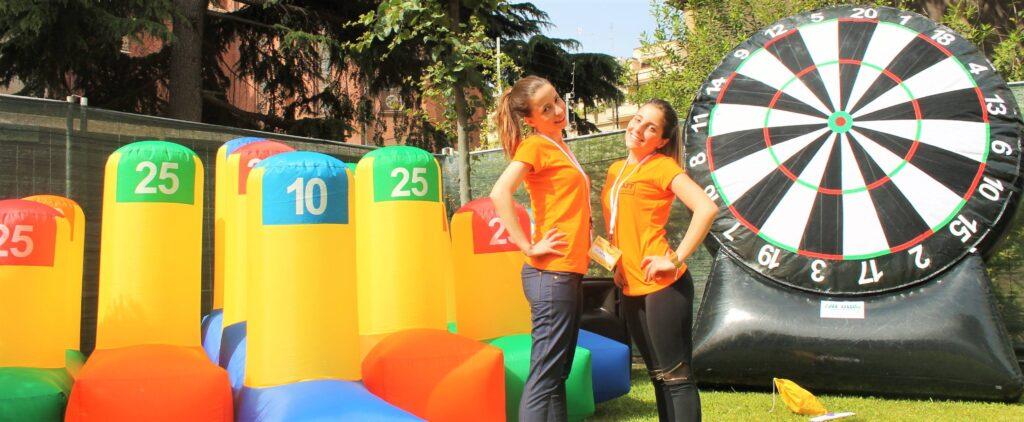 Gonfiabili noleggiati dalla Kids Animazione per un evento a Roma