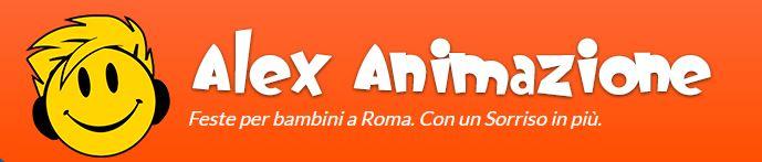Logo Alex Animazione: agenzia che noleggia gonfiabili a Roma e provincia