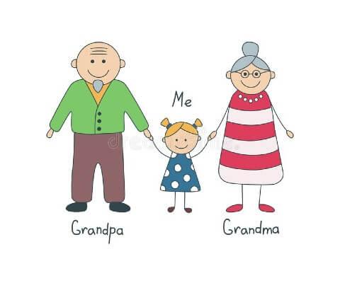 Disegno festa dei nonni da stampare
