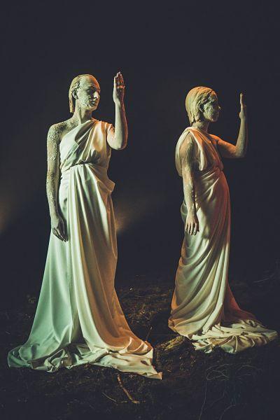 festa antichi romani con toga