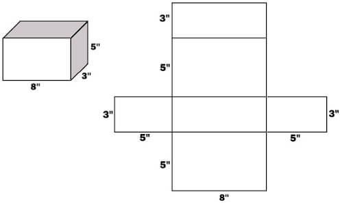 Sagoma scatola fai da te base rettangolare